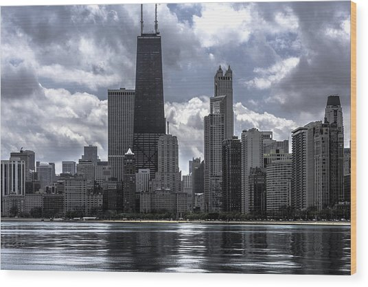 Chicago Skyline Ver3 Wood Print