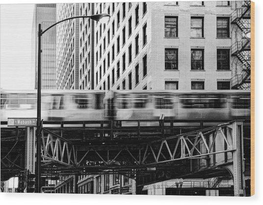 Chicago Transit Wood Print