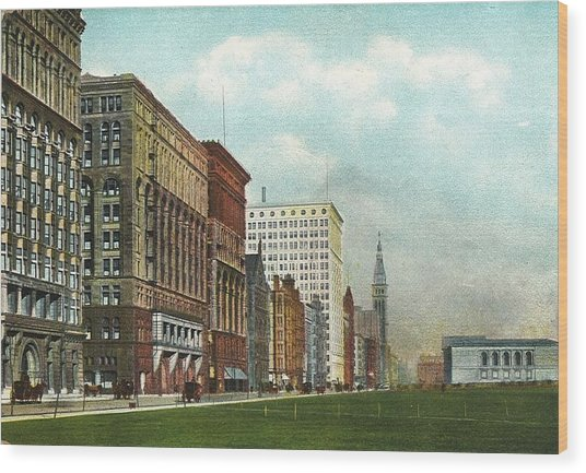 Chicago's Michigan Avenue Looking North From Congress Wood Print