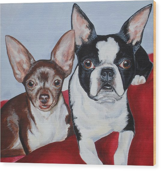 Chichi And Lulu Wood Print