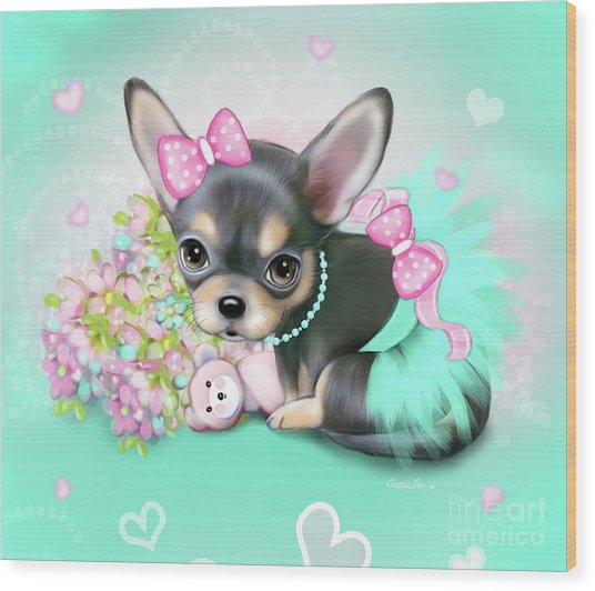 Chichi Sweetie Wood Print