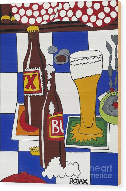 Chichis Y Cervesas Wood Print