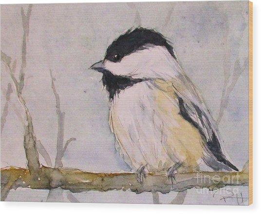 Chickadee Dee Dee Wood Print