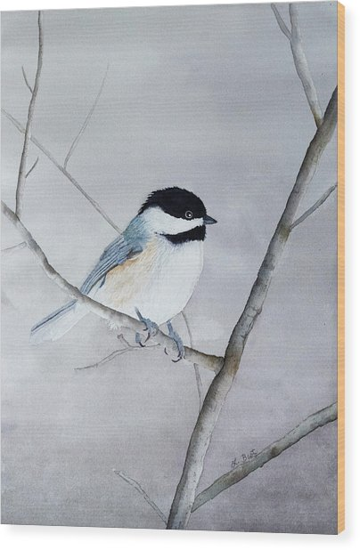 Chickadee II Wood Print