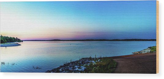 Chickasaw Landing Panorama Wood Print by Barry Jones