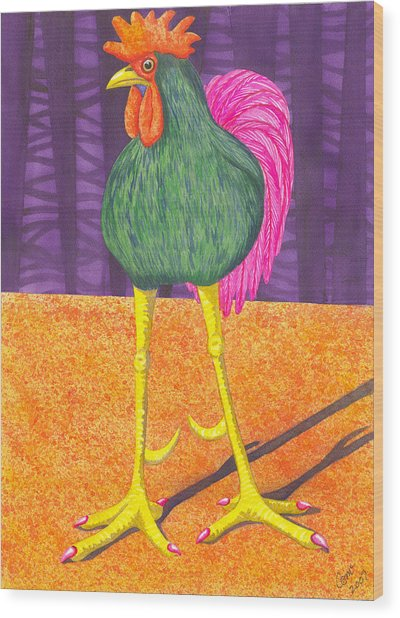 Chicken Legs Wood Print