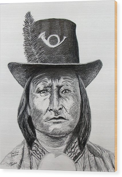 Chief Bird-arapahoe Wood Print by Stan Hamilton