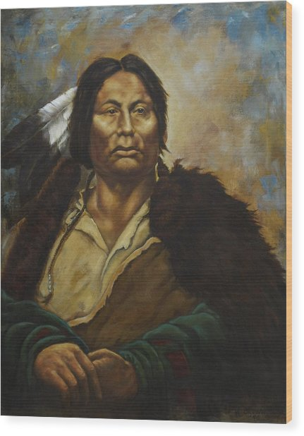Chief Gall Wood Print