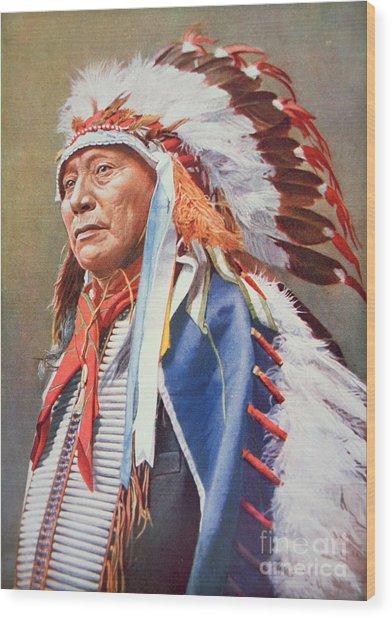 Chief Hollow Horn Bear Wood Print