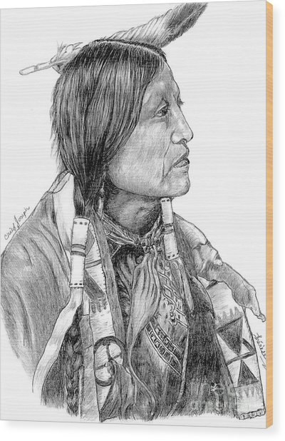 Chief Joseph Of Nes Perce Wood Print