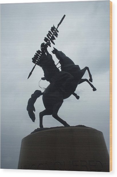 Chief Osceola Statue Wood Print