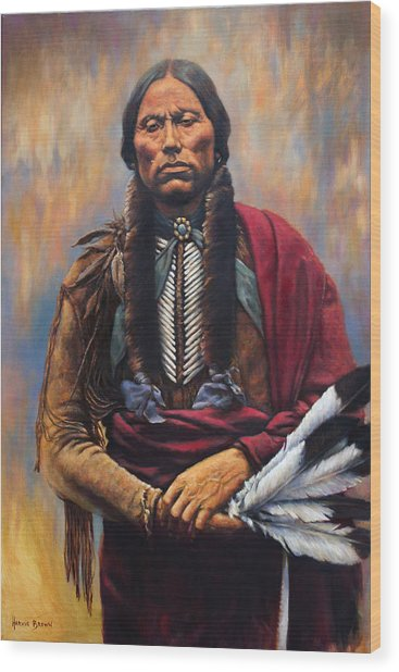 Chief Quanah Wood Print