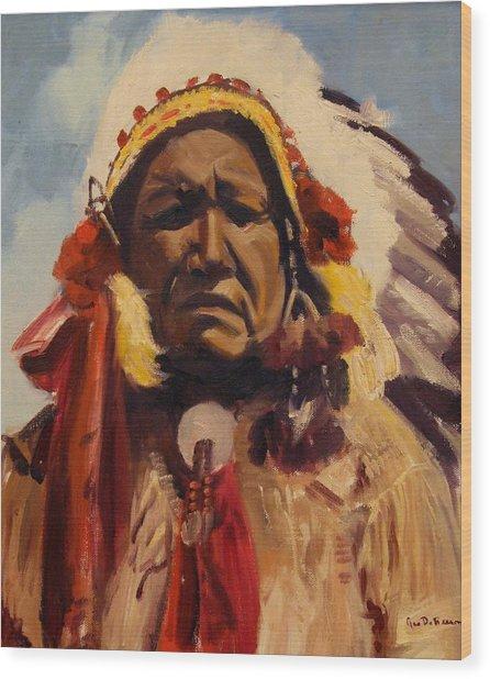 Chief Red Cloud Wood Print