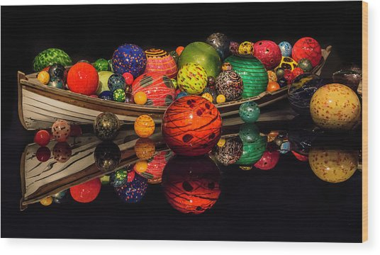 Chihuly Reflection Wood Print