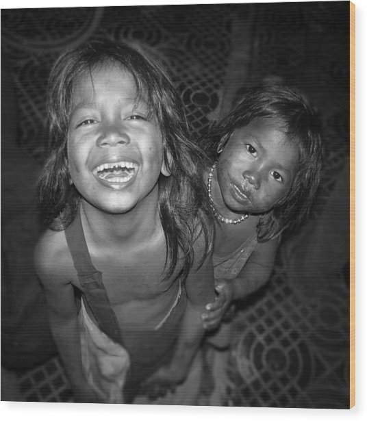 Children Of Phnom Penh Wood Print