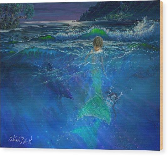Children Of The Sea Wood Print
