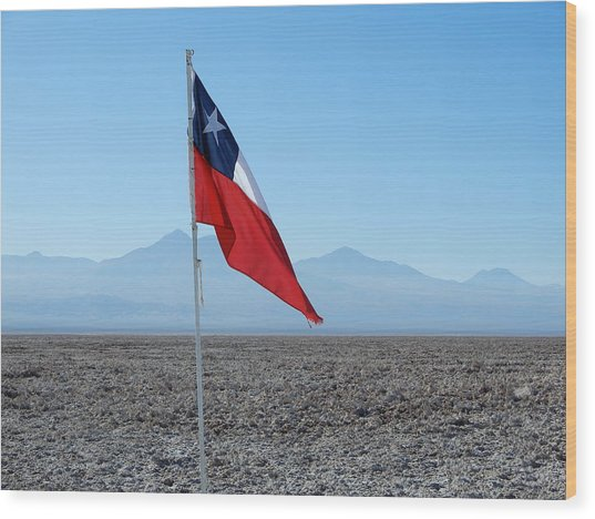 Chilean Flag Wood Print