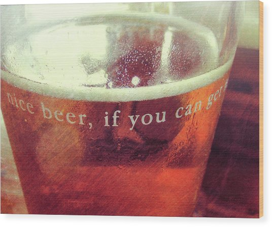 Chilled Amber Quote Wood Print by JAMART Photography