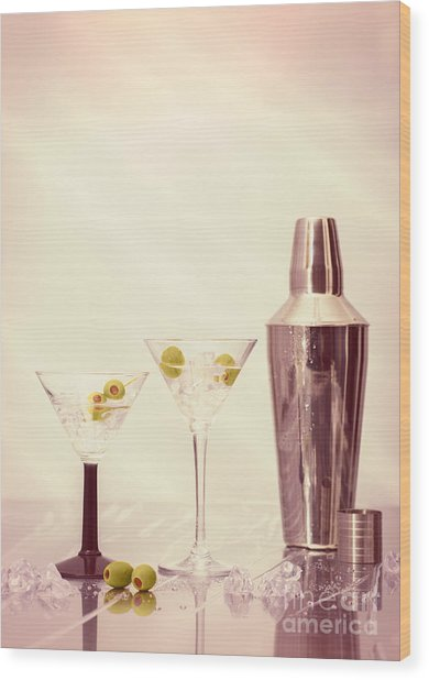 Chilled Martinis Wood Print