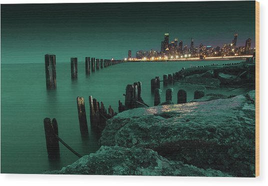 Chilly Chicago 2 Wood Print