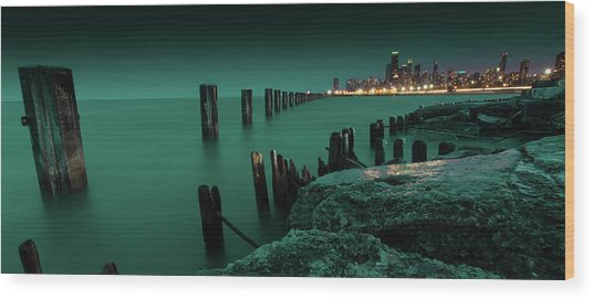 Chilly Chicago Wood Print