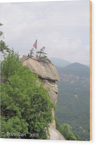 Chimney Rock 2 Wood Print