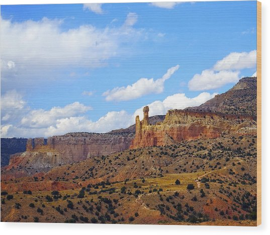 Chimney Rock Ghost Ranch New Mexico Wood Print