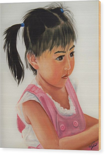China Doll 2 Wood Print
