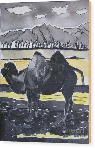 China Silk Road Wood Print by Lesley Giles