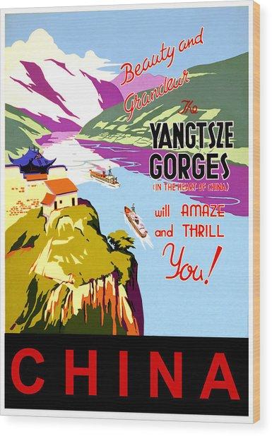 China, Yangtze River Cruise Wood Print