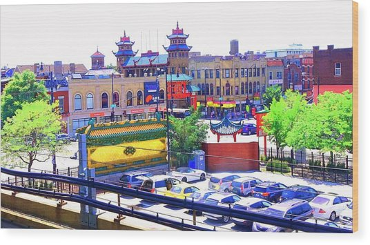 Wood Print featuring the photograph Chinatown Chicago 1 by Marianne Dow