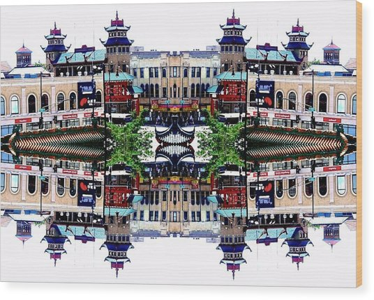 Wood Print featuring the photograph Chinatown Chicago 2 by Marianne Dow