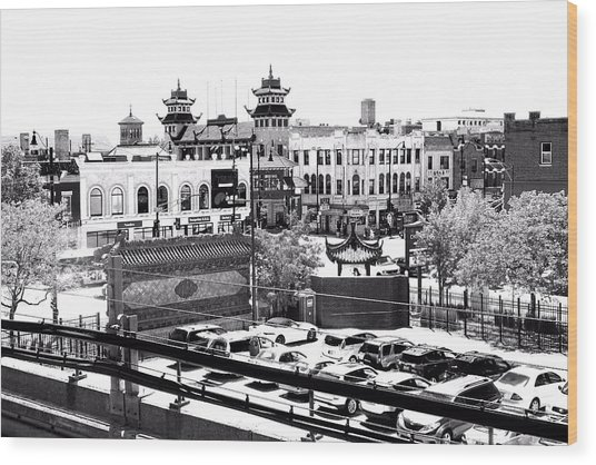 Wood Print featuring the photograph Chinatown Chicago 4 by Marianne Dow