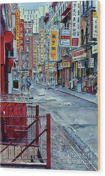 Chinatown, Nyc Wood Print
