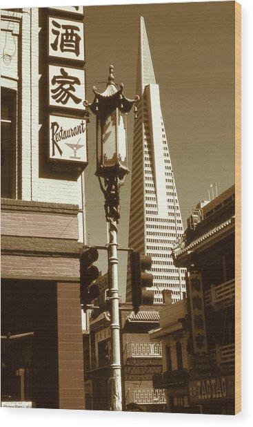 Chinatown San Francisco - Vintage Photo Art Wood Print