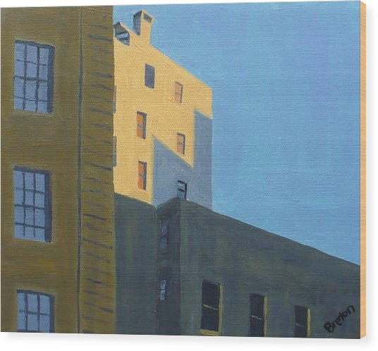 Chinatown Shadows Wood Print by Laurie Breton