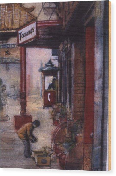 Chinatown Victoria Wood Print by Victoria Heryet