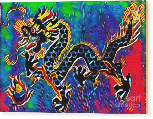 Chinese Dragon Wood Print