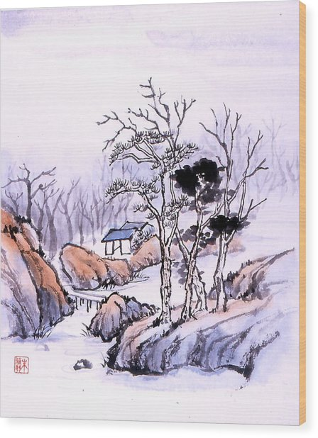 Chinese Landscape Wood Print