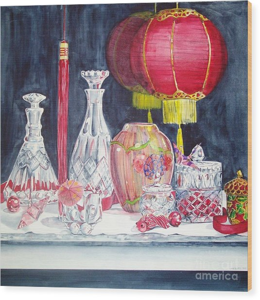 Chinese Lanterns No. 2 Wood Print