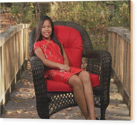 Chinese Princess Wood Print