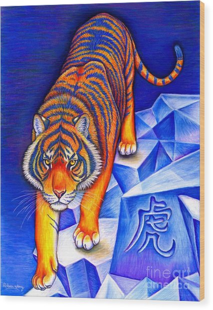 Chinese Zodiac - Year Of The Tiger Wood Print
