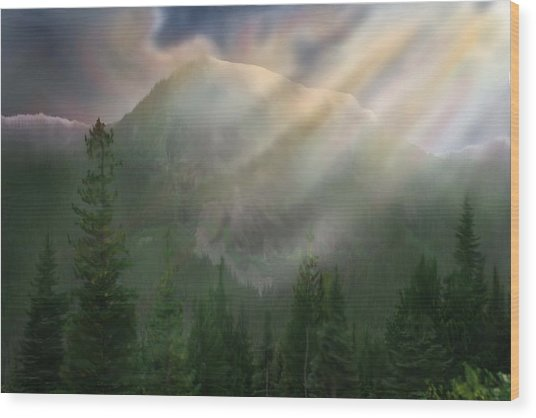 Chinook Vista Wood Print by Robert Bewick