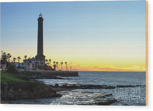 Chipiona Lighthouse Cadiz Spain Wood Print
