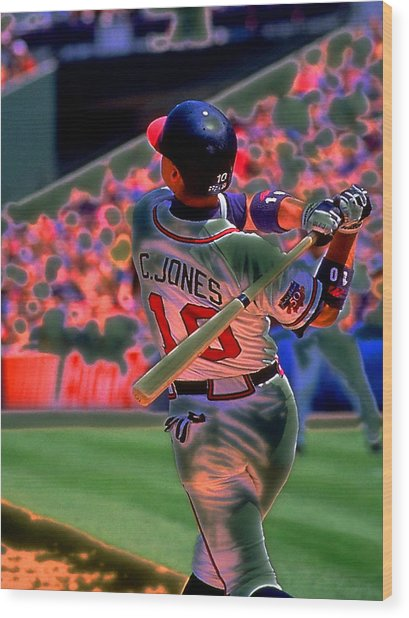 Chipper Jones Wood Print