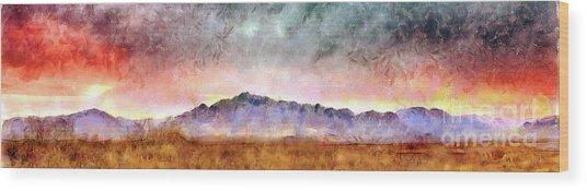 Chiricahua Wood Print by Harry Ridgway