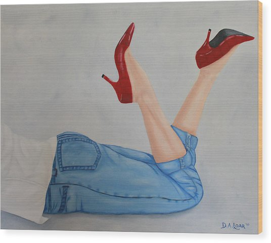 Chloe Wood Print by Denyse Loar