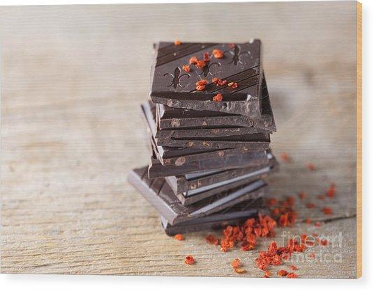 Chocolate And Chili Wood Print