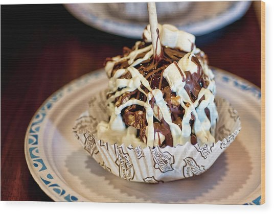 Chocolate Caramel Apple Wood Print