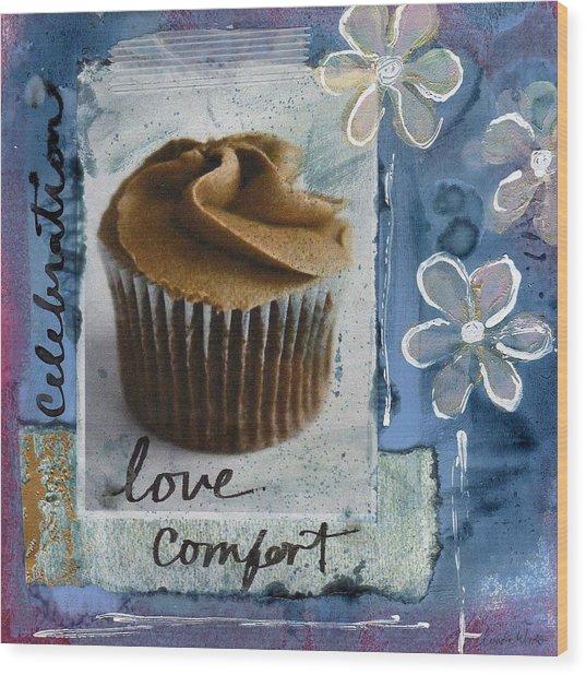 Chocolate Cupcake Love Wood Print